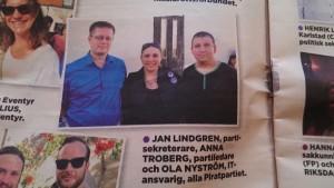 Jan Lindgren, jag och Ola Nyström fastnade på mingelfoto på Primes mingel.