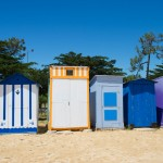 Beach huts on island Oleron in France